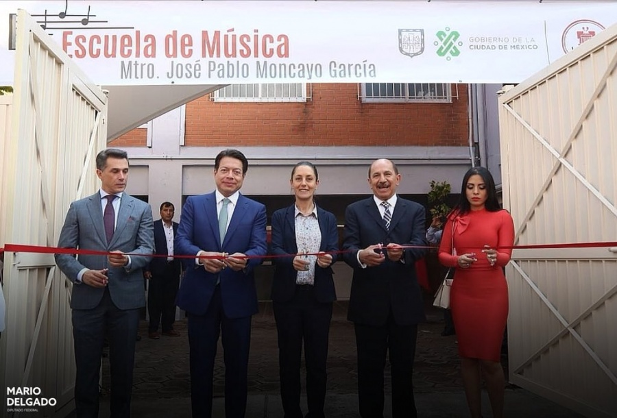Sheinbaum inaugura escuela de música en Iztacalco