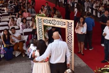 Contraen matrimonio 160 parejas en la Alcaldía Magdalena Contreras