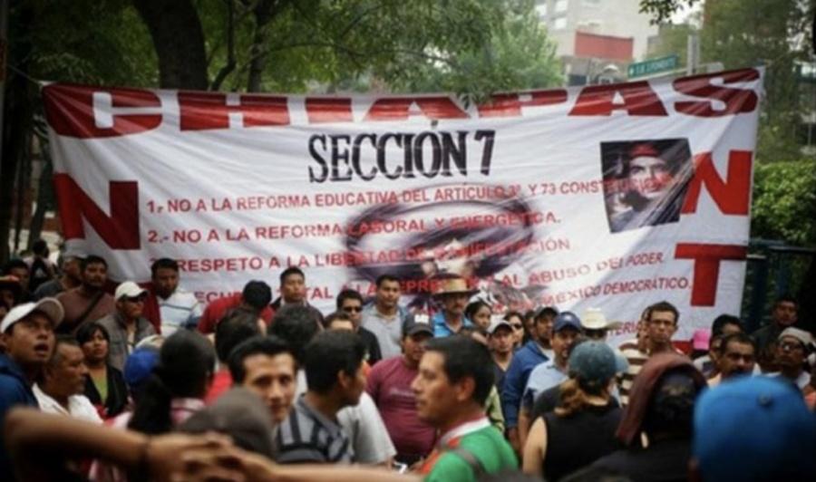 CNTE acusa a Gobernador de reprimir al Magisterio en Chiapas