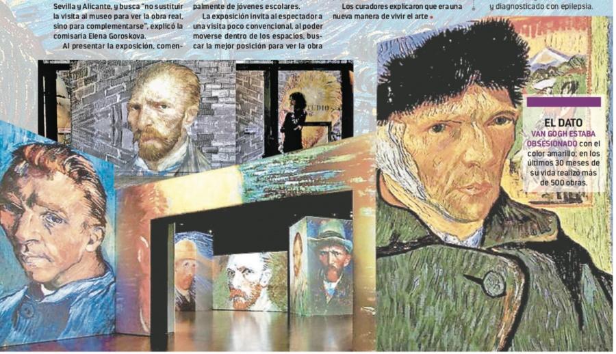 Animan obra de Van Gogh con luz y tecnología 3D