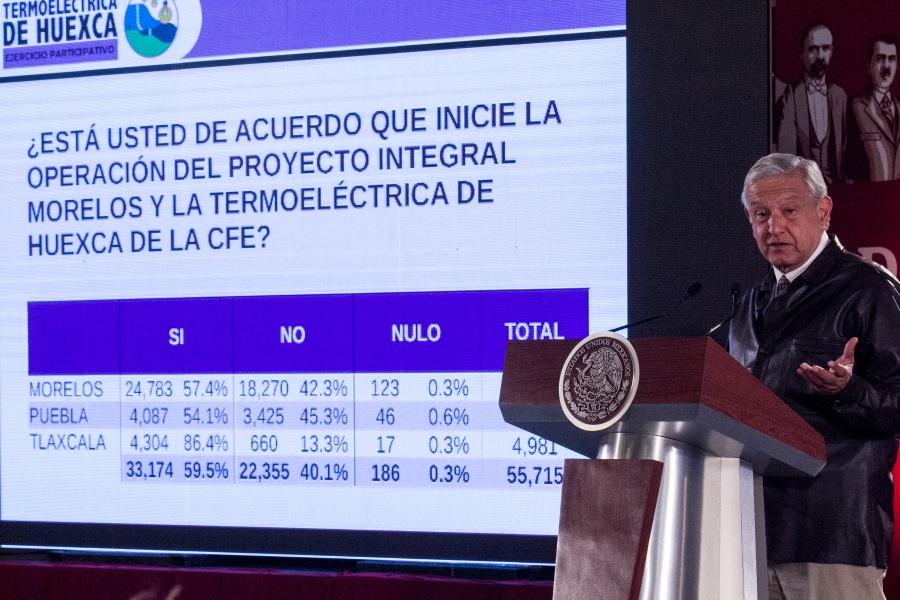 Consulta ciudadana apoya la termoeléctrica en Huexca: AMLO