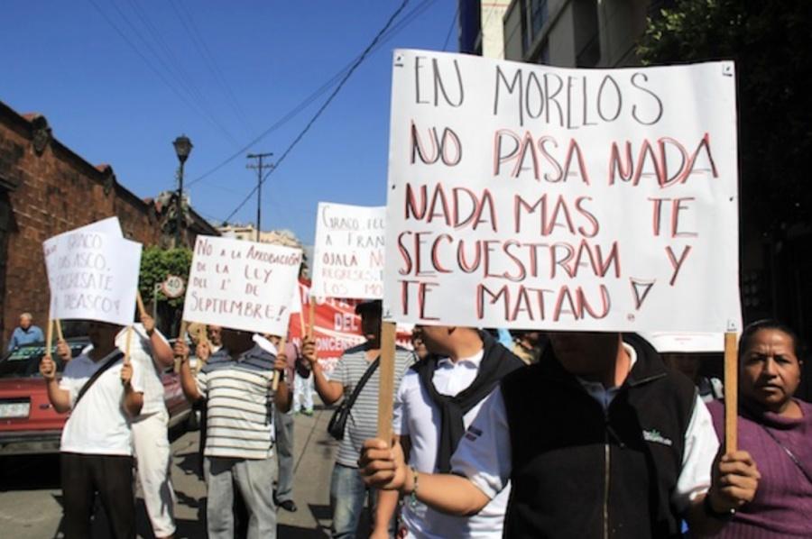 ...Y repunta violencia en Morelos