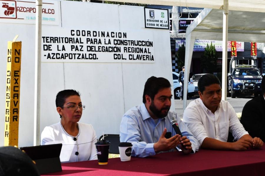 Realizan primera sesión pública de gabinete de seguridad en Azcapotzalco