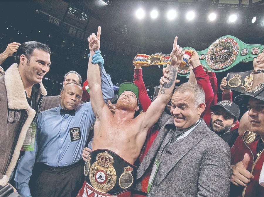 El Ganador entre Canelo y Jacobs, se lleva Cinturón Maya
