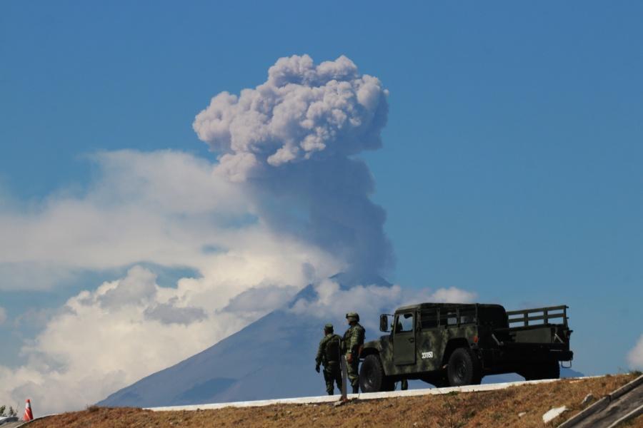 Anuncian crecimiento de domo en el Popocatépetl
