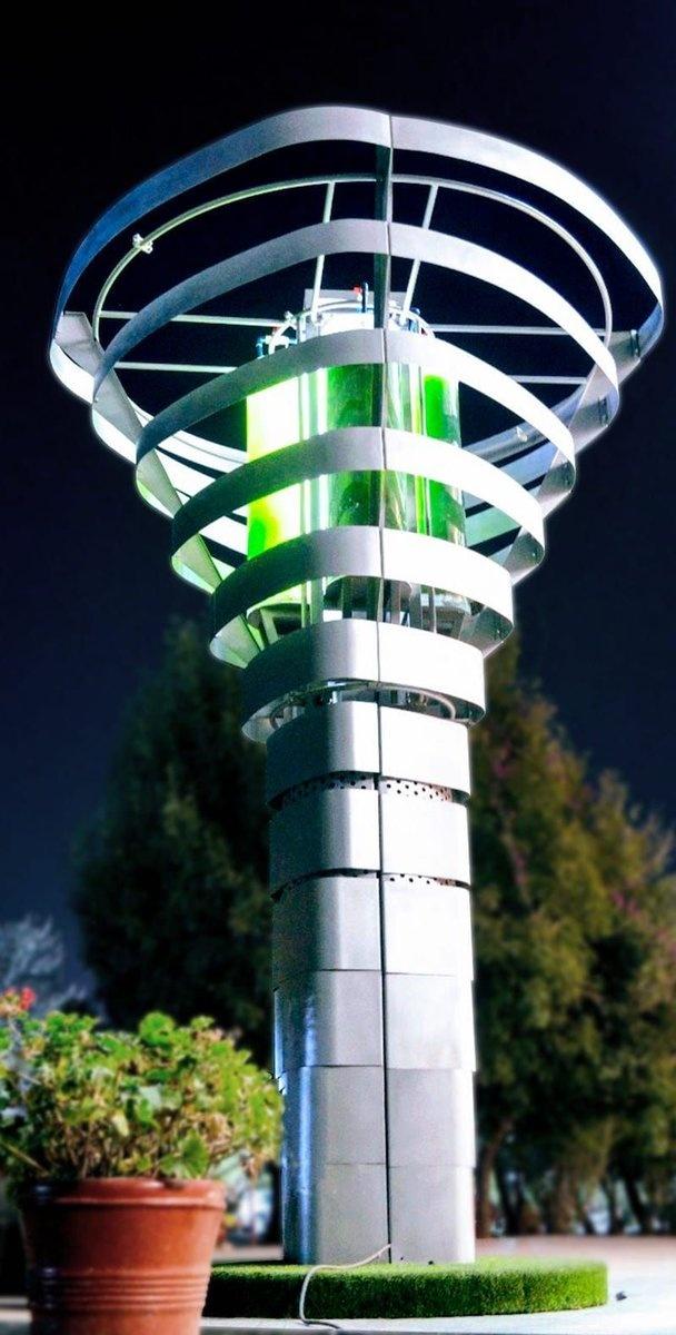 Torres de Microalgas que purifican el aire