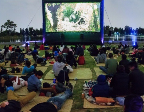 Noches de cine llegan a lagos de CDMX