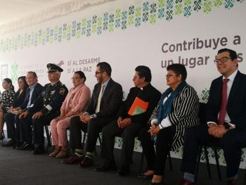 """La alcaldía Benito Juárez se une al programa """"Sí al desarme, sí a la paz"""