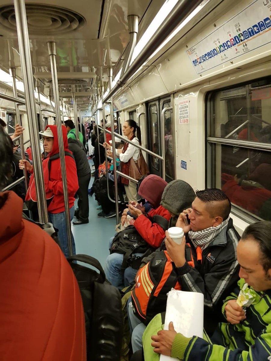 Captan a Jefa de Gobierno en el Metro, ¡sin seguridad!
