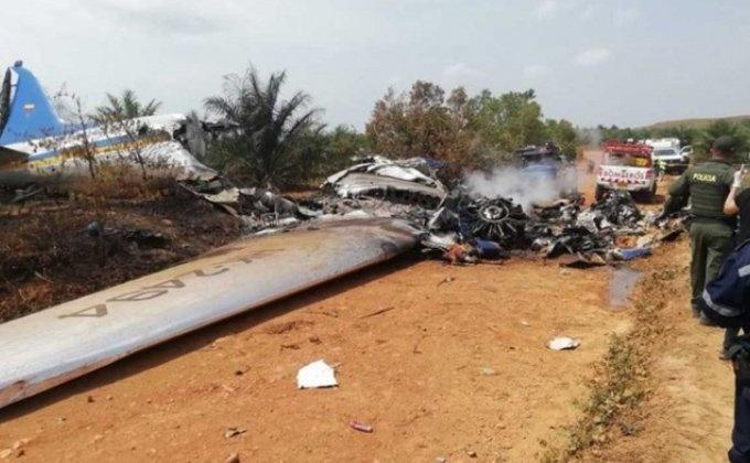 Mueren 12 personas, tras accidente de avión en Colombia