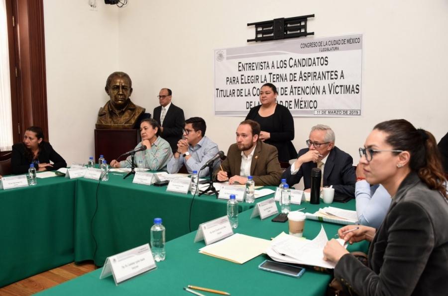 Candidatos a Comisión de Atención a Víctimas CDMX comparecen ante Congreso