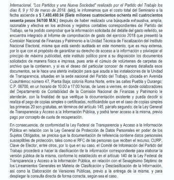 PT gasta más de 7 mdp en seminario pro dictaduras