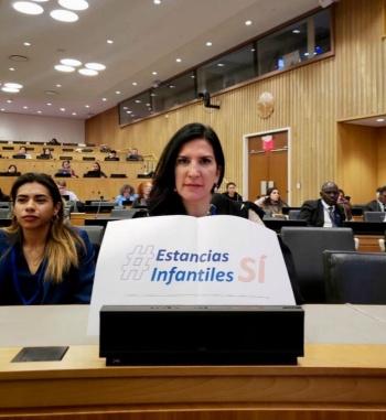 Protestan en la ONU por estancias infantiles