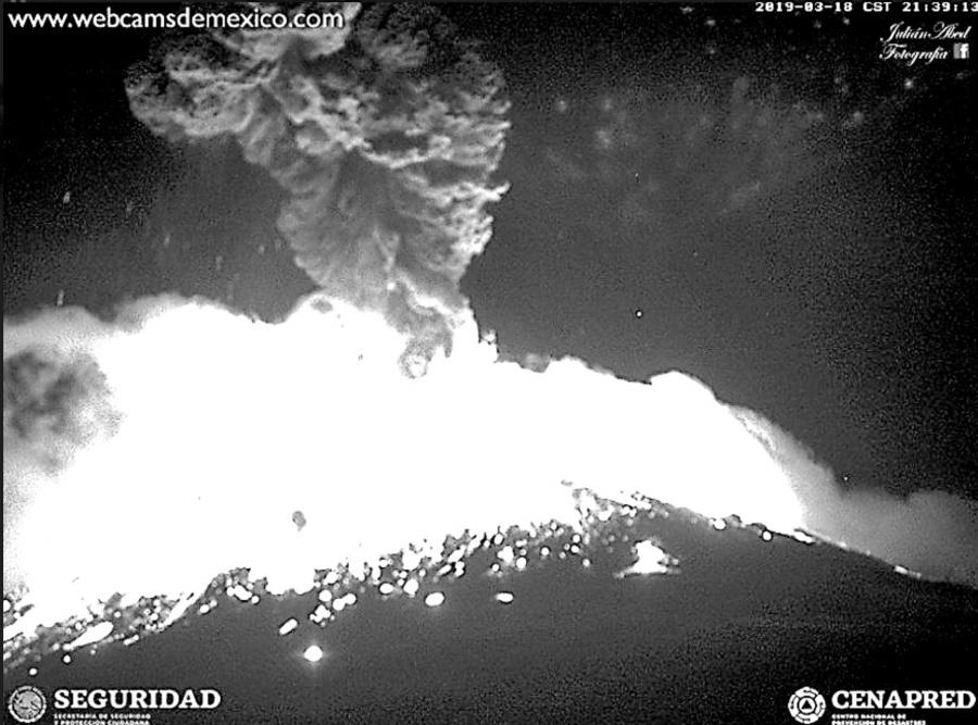 El Popocatépetl registra explosión histórica