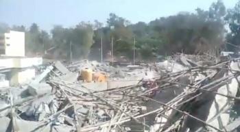 Derrumbe de edificio en India deja al menos dos muertos y 24 heridos