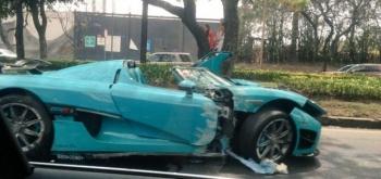 Destruyen auto de 30 millones de pesos en la CDMX