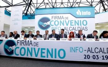 INFO y alcaldías firman convenio de transparencia