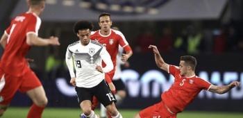 Alemania sufre y empata a Serbia en amistoso