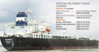 Atraca buque petrolero venezolano en Veracruz