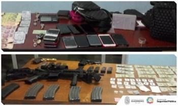 Detienen a 5 por portación de drogas y armas de uso exclusivo del Ejército en Guerrero