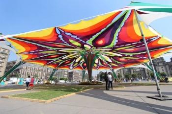 """Gobierno capitalino instala jardín cultural """"Primavera"""" en el Zócalo"""