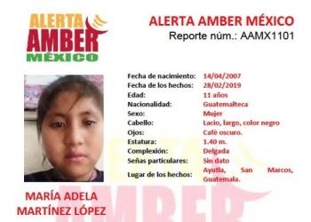 Activan Alerta Amber por desaparición de niña en Guatemala