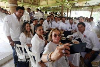 Reaparece Elba Esther Gordillo en Chiapas con el partido Redes Sociales Progresistas
