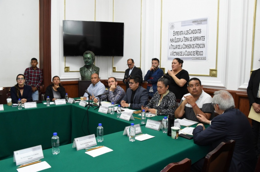 Concluyen entrevistas a candidatos a la Comisión de Atención a Víctimas