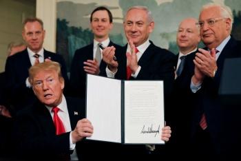 Trump reconoce soberanía de Israel sobre los Altos del Golán