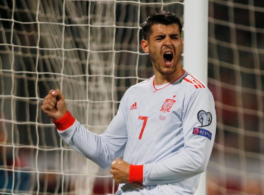 España derrota a Malta con doblete de Morata