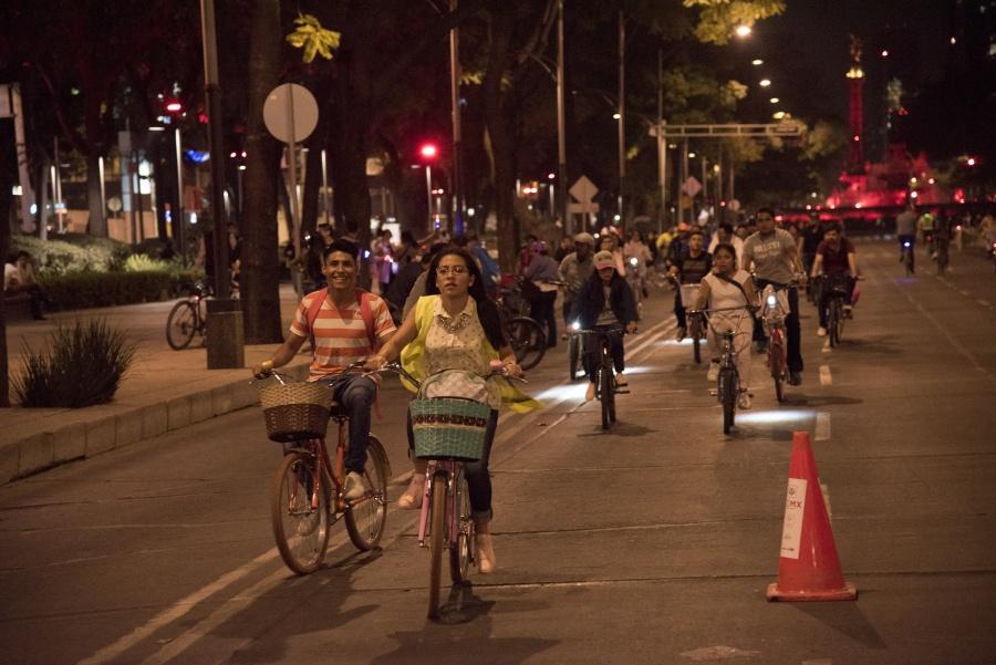 Tu bici viaja en Metro y Metrobús, por Paseo Nocturno de Primavera