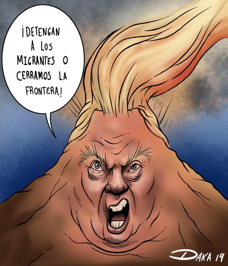 """Trump amenaza cerrar la """"maldita frontera"""""""