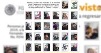 FGR revela fotografías de migrantes desaparecidos en Tamaulipas