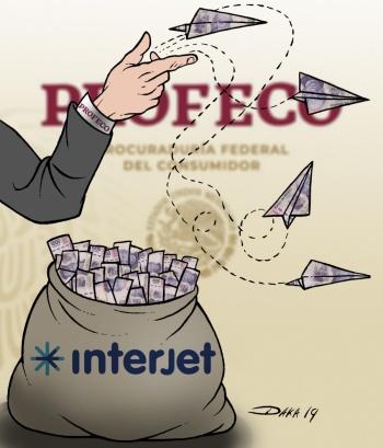 Son pocos, 34 vuelos cancelados: Interjet