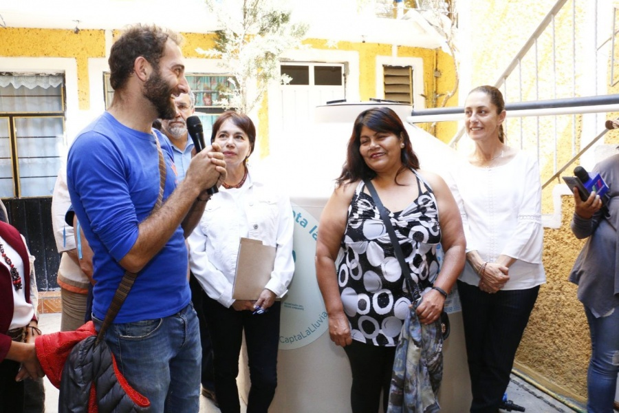GobCDMX instala sistemas de captación de agua pluvial en Iztapalapa y Xochimilco