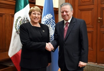Zaldívar y Bachelet dialogan sobre derechos humanos en México