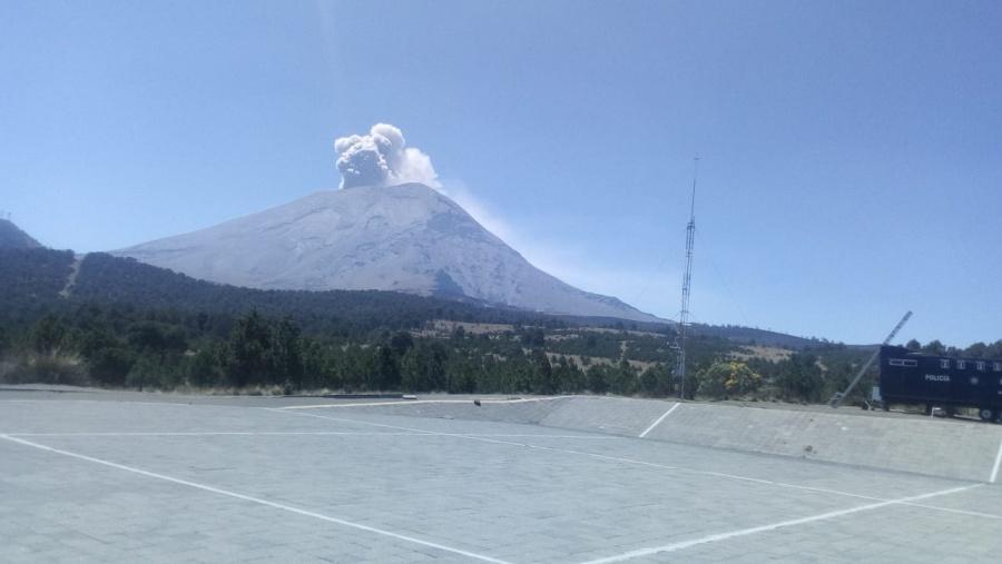 Popocatépetl emite 43 exhalaciones, en las últimas 24 horas