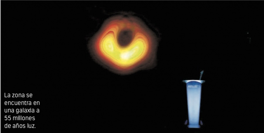 Hito científico: revelan la primera foto real de un agujero negro