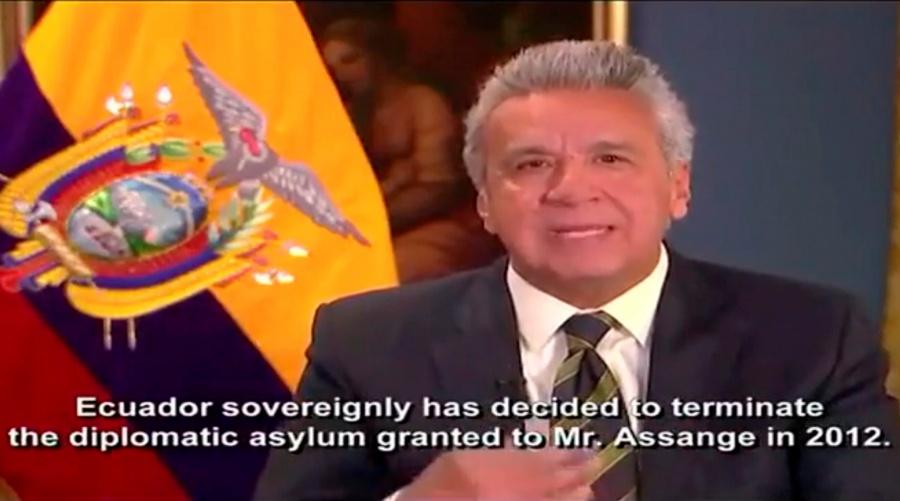 Assange no será extraditado a país donde enfrente pena de muerte: Lenín Moreno