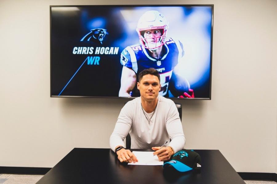 Chris Hogan llega a las Panteras de Carolina en la NFL