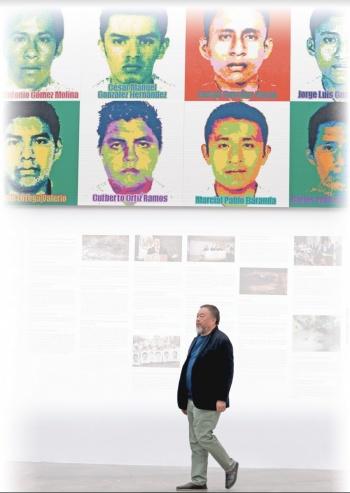 Ai Weiwei llega a México con manifiesto antidesapariciones