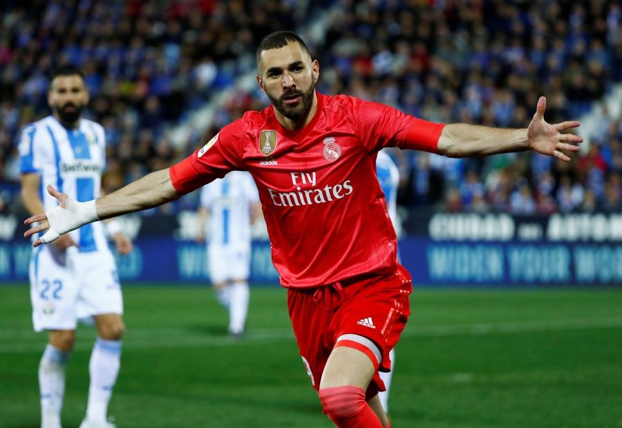 Benzema salva el empate del Real Madrid ante el Leganés