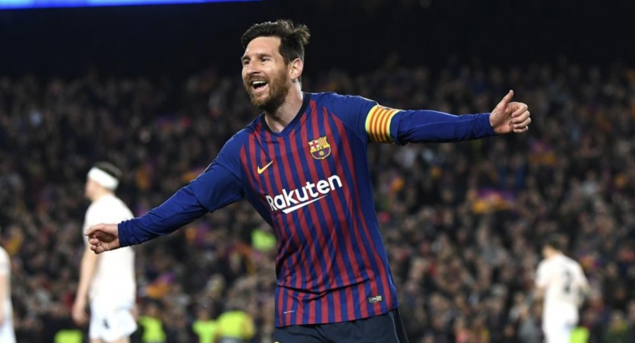 Messi anota dos y Barca avanza en UEFA