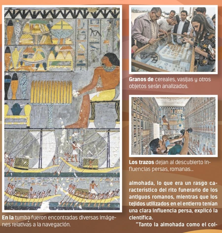 Hallan tumba en Egipto que revela la influencia romana