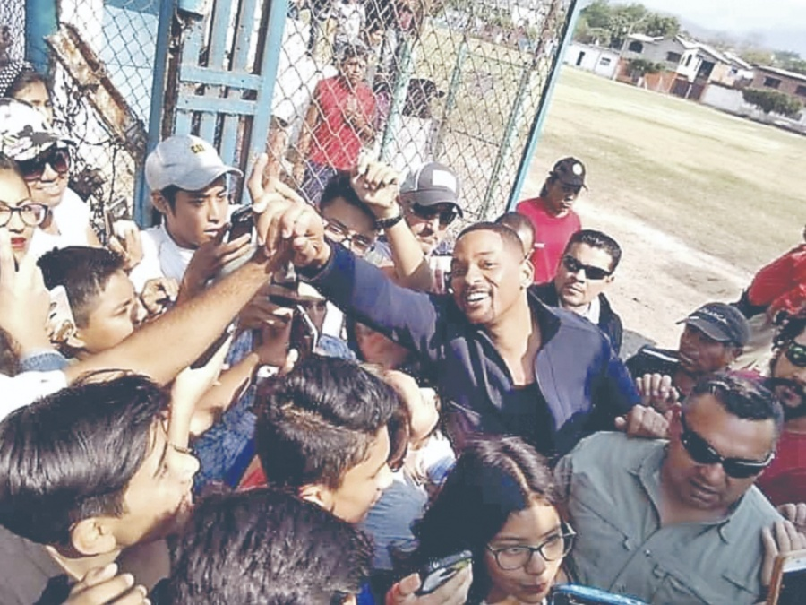 Will Smith graba filme en Yautepec