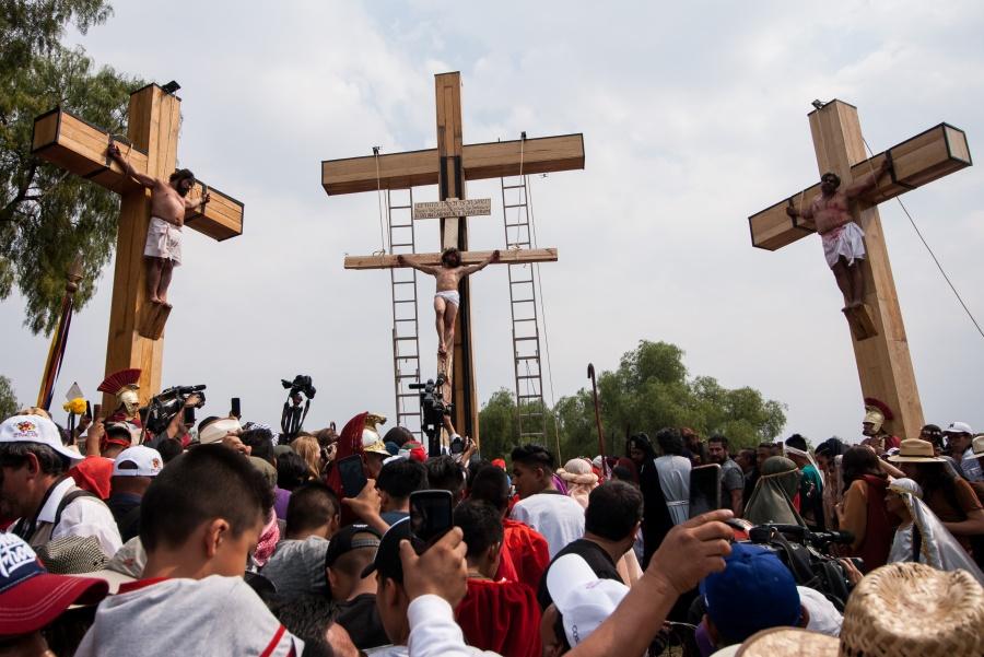 Saldo blanco en la 176 Representación de la Pasión de Cristo