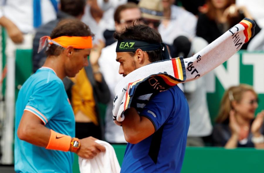 Nadal pierde ante Fognini y se queda sin final en Montecarlo