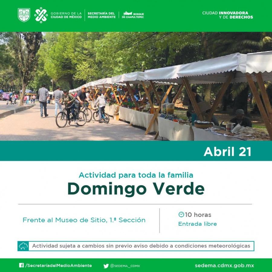 """Sedema llevará acabo el """"Domingo Verde"""" en bosques de Aragón y Chapultepec"""
