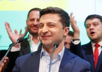 Ucrania elige a comediante Zelensky como nuevo Presidente