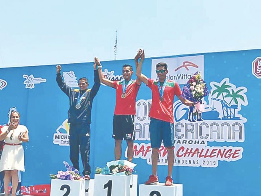 Gana Isaac Palma en 50 km y da marca para Lima 2019